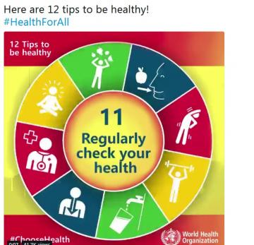 Here are 12 tips to be healthy!